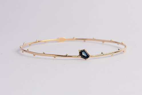 """Garden of Eden"" Solid 9ct Gold & Sapphire Bangle (MADE TO ORDER)"