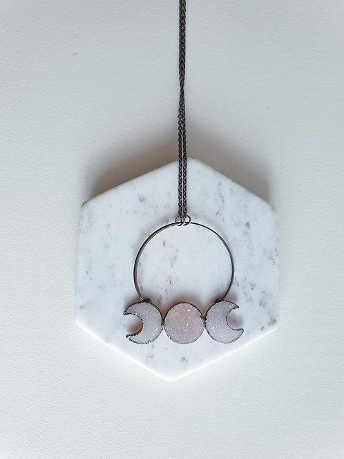 Luna Cycle Light Druzy Necklace