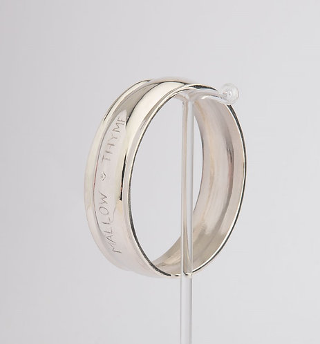 """Larger Than Life"" Palladium Silver Bangle"