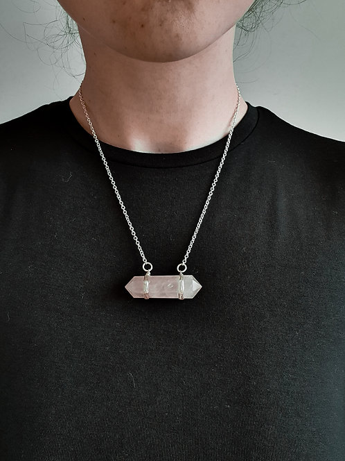 Radiant Rose Quartz Necklace