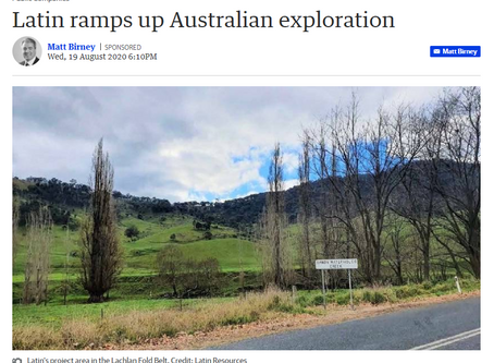 Latin ramps up Australian exploration