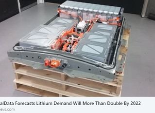 GlobalData Forecasts Lithium Demand Will More Than Double By 2022