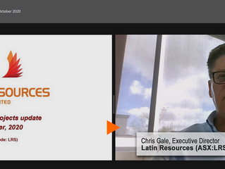 Latin Resources (ASX:LRS) Presentation, FNN Online Investor Event, October 2020