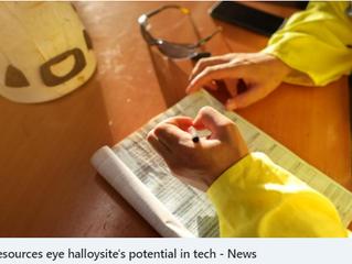 Latin Resources eye halloysite's potential in tech