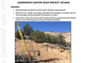 Oakdale Resource have just published the following Diamond #Drilling Update at the Lambaron Canyon