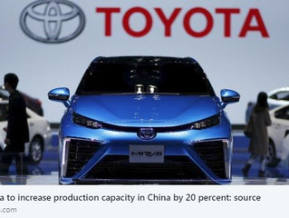 TOYOTA TO INCREASE PRODUCTION CAPACITY IN CHINA BY 20 PERCENT: SOURCE