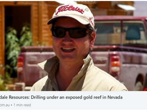 Oakdale Resources: Drilling under an exposed gold reef in Nevada