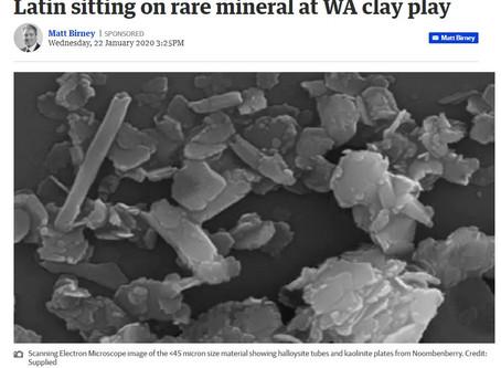 Latin sitting on rare mineral at WA clay play