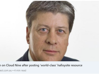 Latin on Cloud Nine after posting 'world-class' halloysite resource
