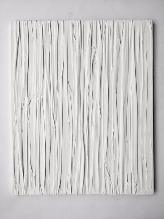 Flowing 2, Acrylic, fabric, canvas 2018