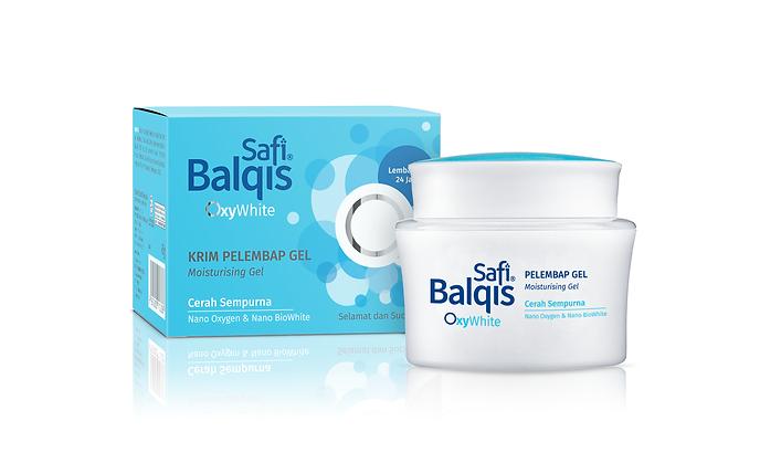 Safi Balqis OxyWhite, Safi Balqis OxyWhite Moisturising Gel, Halal Skincare, Skincare Packaging, Beauty Packaging