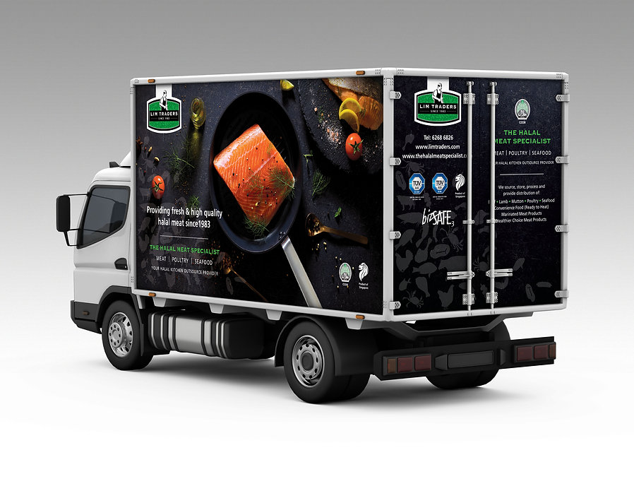 Lim Traders Truck, Truck Design, Vehicle Design, Vehicle Branding, Seafood Photography, Food Photography