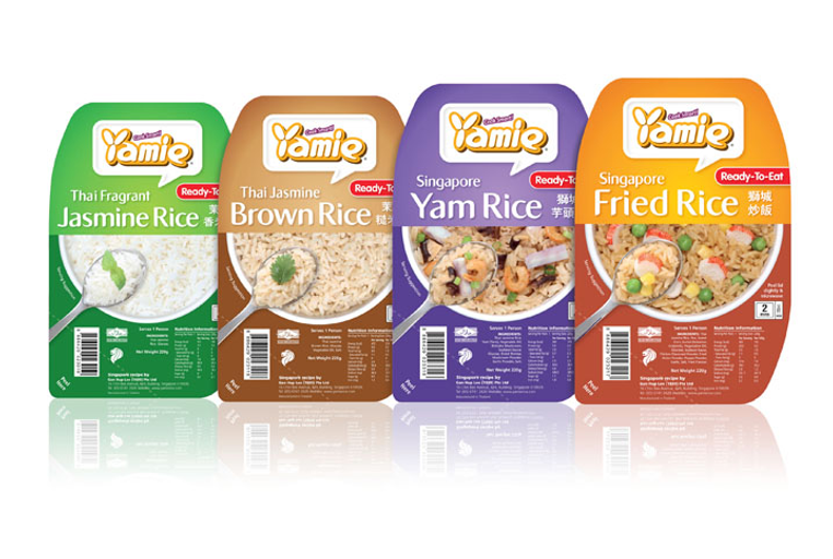 Yamie Rice, Yamie Rice Packaging, Rice Packaging, Gan Hup Lee