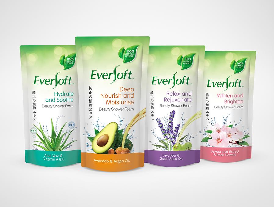 Eversoft, Eversoft Beauty, Eversoft Beauty Shower Foam Pouch
