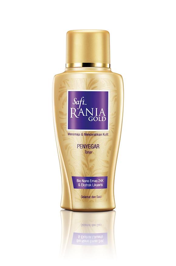 Safi Rania Gold, Halal Skincare, Gold, Halal Packaging, Safi Rania Gold Toner, Toner