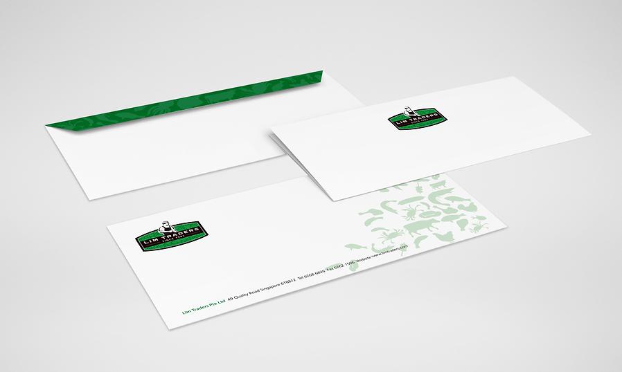 Lim Traders, Lim Traders Logo, The Halal Specialist, Lim Traders Stationery, Lim Traders Letterhead, Lim Traders Envelope