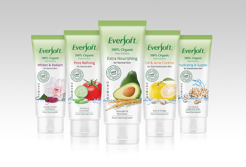 Eversoft, Eversoft Facial Cleanser, Eversoft Facial Cleansing Foam, 100% Organic Plant Extracts
