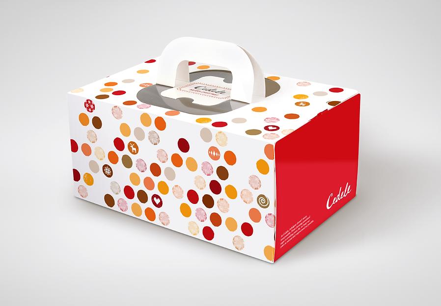 Cedele, Cedele Christmas, Cedele Christmas Packaging, Christmas Packaging, Log Cake Packaging