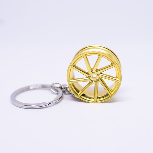 Gold Wheel Keychain