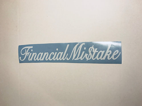 Financial Mistake Banner Decal