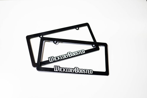 Wickedly Boosted License Plate Frame