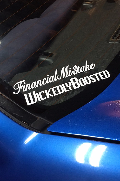 Financial Mistake Decal 1x7""