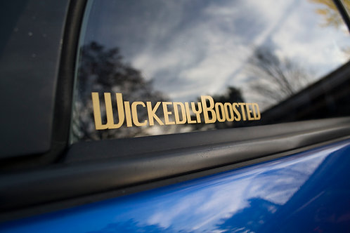 WickedlyBoosted Sticker 1x7""