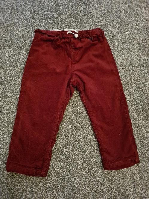 9-12m Burgundy Trousers