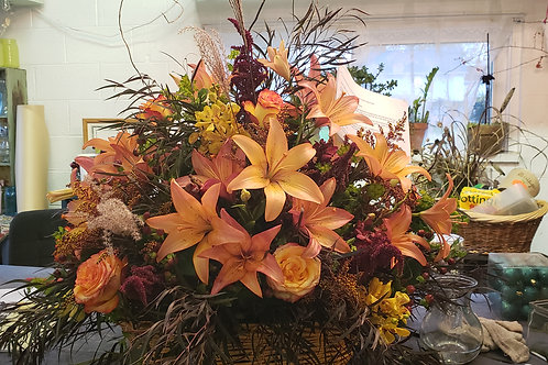 Fall Funeral Basket
