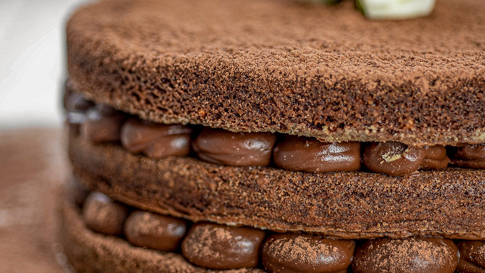Torta bem casado de brownie