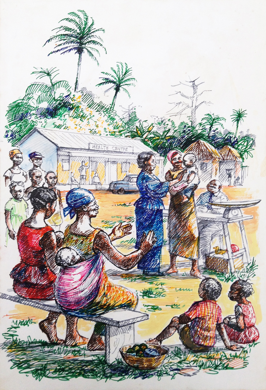 Ghana Life Illustration
