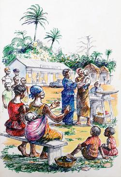 Ghana Life Illustration