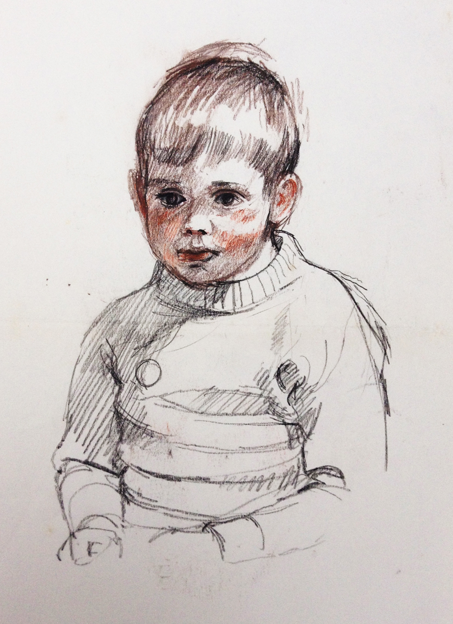 Simon Portrait Study - Pencils 1969