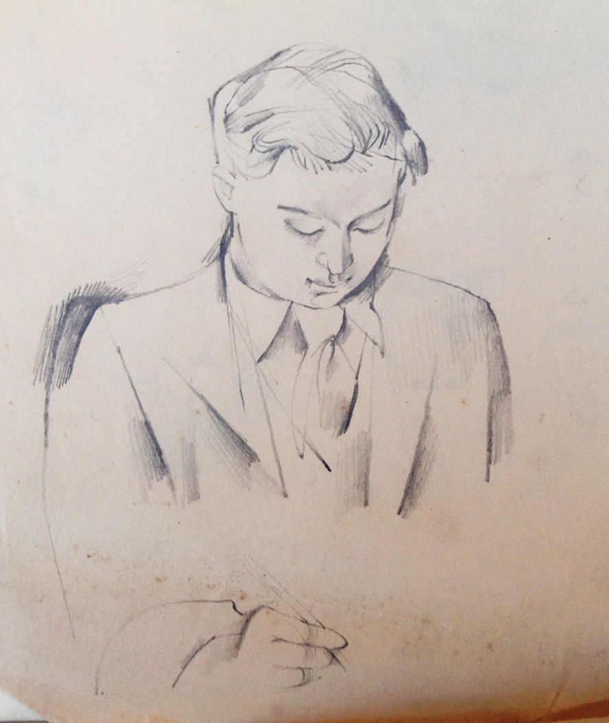 John Avis by John Minton Pencil 1948