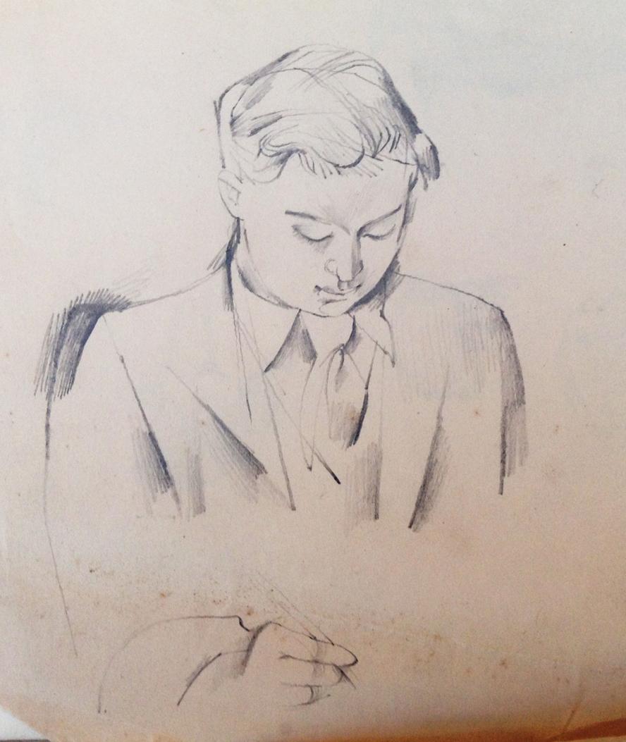 John Avis by John Minton Pencil 1948