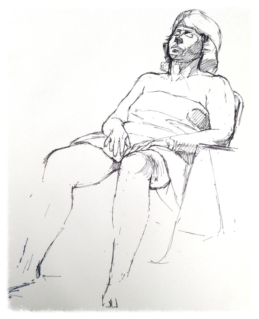 Susan Sunbathing In Nerja