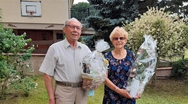 M. et Mme BAUER à l'honneur ce jour