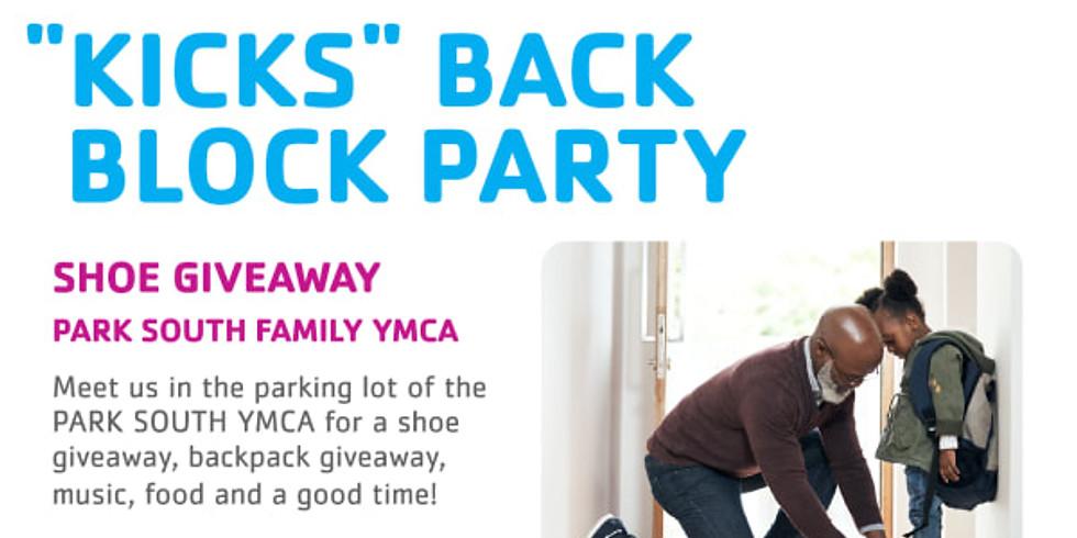 Kicks Back Block Party Shoe Giveaway @ Park South YMCA