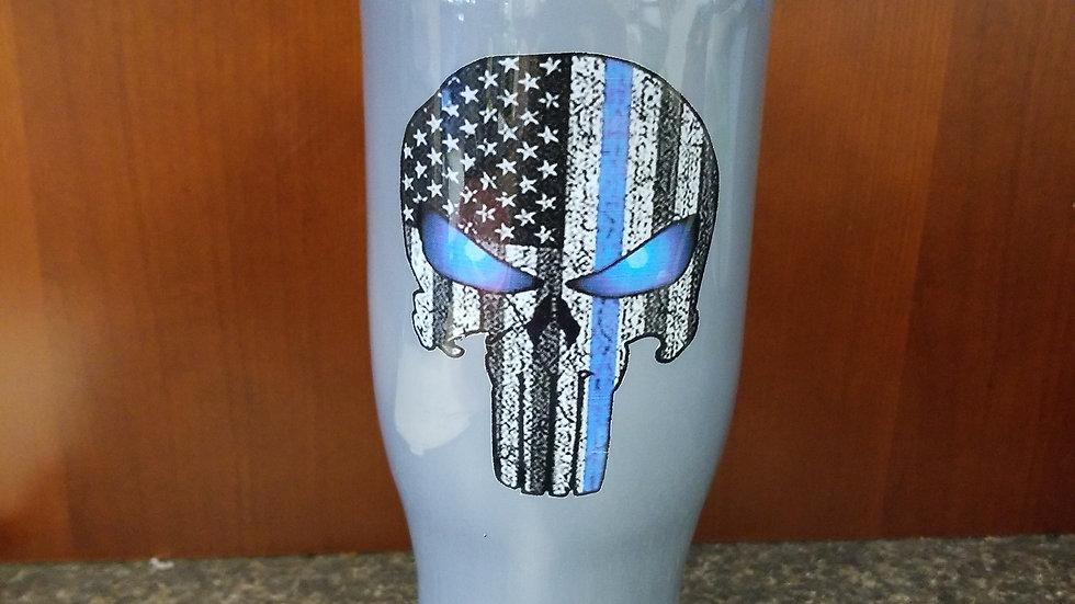 40 oz Back the Blue - Yeti type mug