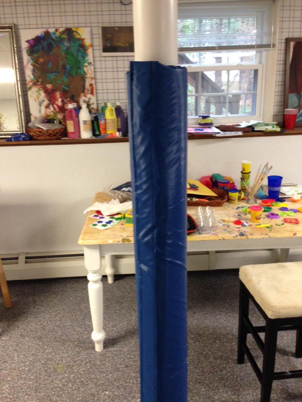 Basement Pole Cover