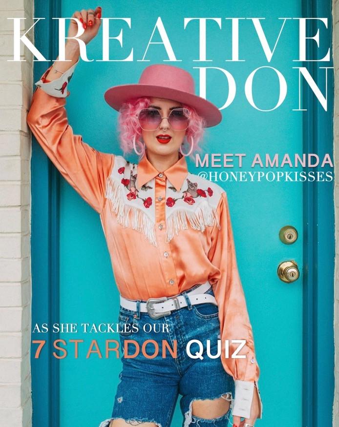 Girl in magazine cover