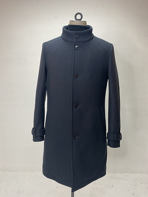 Drykorn Wool High Collar Coat Navy