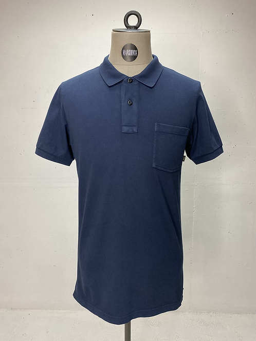 DENHAM Pocket Polo Navy