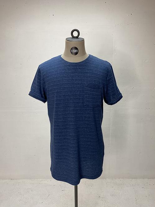 Suit Irregular Stripe T Blue