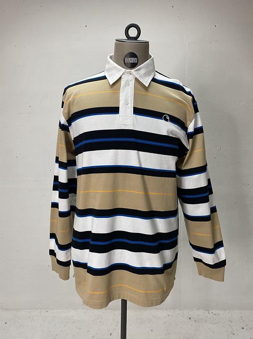Carhartt Striped Long Sleeve Polo Multi Colour
