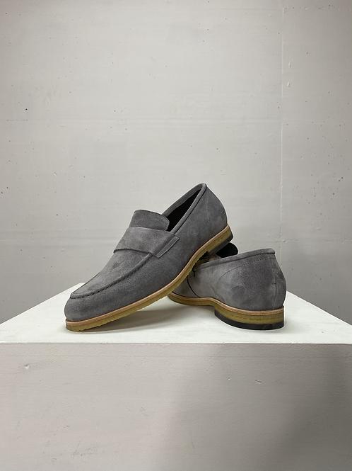 Blackstone Suede Loafers Grey