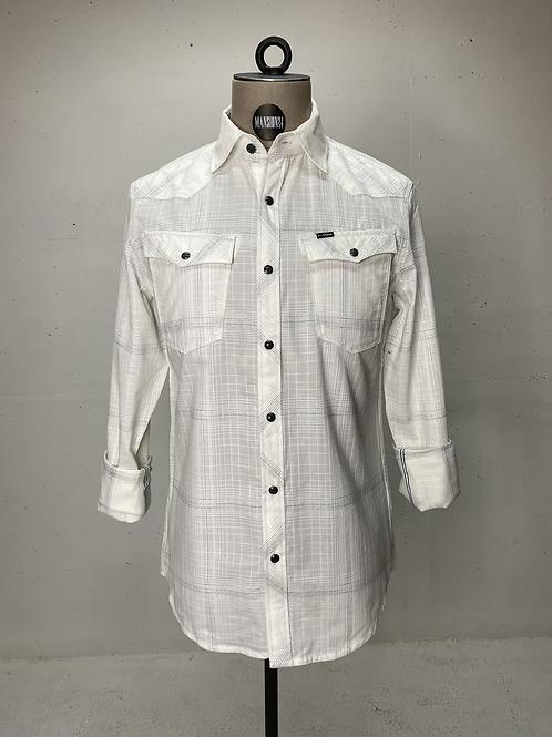 G-Star Slub Check Shirt Off White