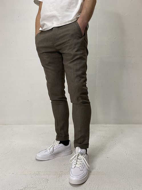 Drykorn Stretch Pants Light Grey/Brown