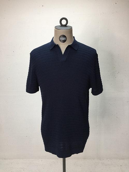 Drykorn Knit No-Button Polo Navy