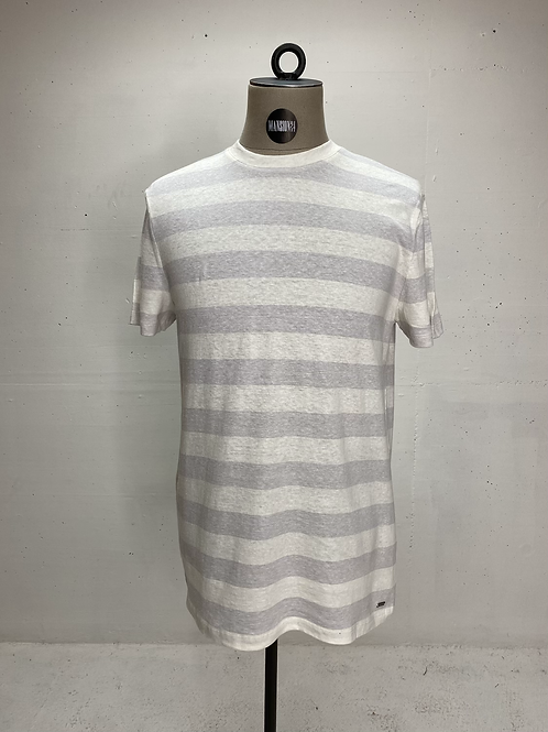 Strellson Stripe T Off White